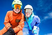 foto of family ski vacation  - skiing and snowboarding - JPG