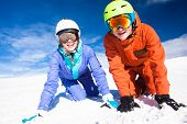 picture of family ski vacation  - skiing and snowboarding - JPG