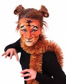 picture of tigers  - Girl in appearance a tiger - JPG