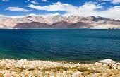 pic of jammu kashmir  - Tso Moriri lake in Rupshu valley Chamser and Lungser Kangri  - JPG