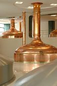 stock photo of copper  - big pot brewery boiler beer made from copper - JPG