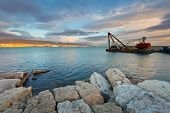 foto of piraeus  - Evening view of Athens from Mikrolimano marina - JPG