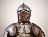 stock photo of armor suit  - An Ancient metal armor. in Shallow DOF