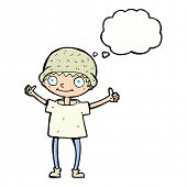 picture of attitude boy  - cartoon boy with positive attitude with thought bubble - JPG