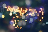 picture of christmas party  - Festive background with natural bokeh and bright golden lights - JPG