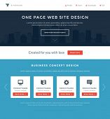 foto of grids  - Website Template Landing One Page Header Flat Design and Icons - JPG