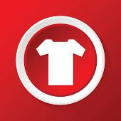 picture of t-shirt red  - Round white icon with image of T - JPG