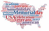 picture of veterans  - Illustration with word cloud about Memorial day - JPG
