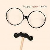 picture of geek  - the text happy geek pride and a pair of round - JPG