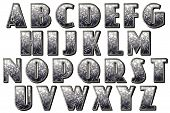 pic of vaudeville  - glitter retro alphabet collection isolated on white - JPG