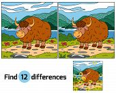 pic of yaks  - Game for children - JPG