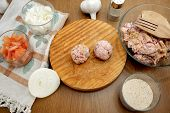 picture of meatball  - cooking meatballs and the ingredients required to do them - JPG