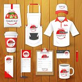 image of packages  - Set of restaurant corporate identity - JPG