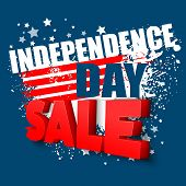 4th of july sale vector background poster