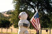 Memorial Day Snowman poster