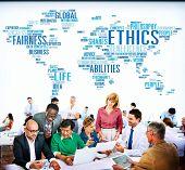 picture of ethics  - Ethics Ideals Principles Morals Standards Concept - JPG