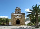 foto of atlantic ocean  - The church of Nuestra senora de la Pena in Vega de Rio Palmas on the Canary Island Fuerteventura - JPG