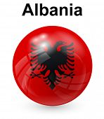 stock photo of albania  - albania official state flag - JPG