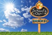 picture of text cloud  - Blackboard with a clock and text School - JPG