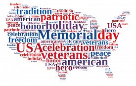 pic of memorial  - Illustration with word cloud about Memorial day - JPG