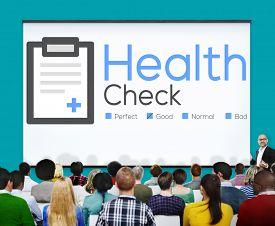 image of check  - Health Check Insurance Check Up Check List Medical Concept - JPG