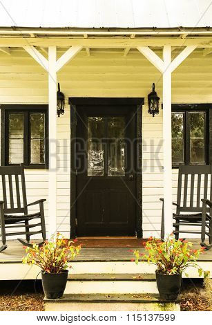 stock photo of the front porch