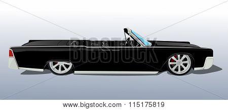 american black car cadillac cabriolet