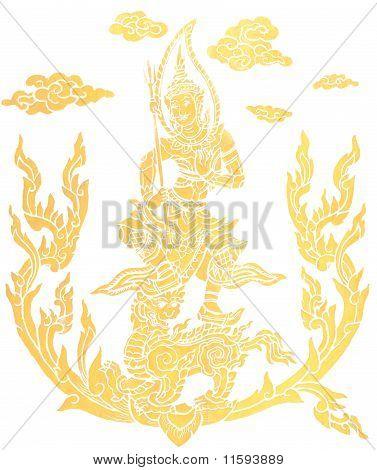 Постер, плакат: Великий божество живопись, холст на подрамнике