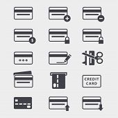 Credit Cards Icon Set poster
