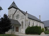 foto of mennonite  - old church in a rural mennonite community - JPG