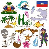 Постер, плакат: Collection Of Haiti Icons