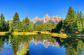 Schwabachers Landing In The Grand Tetons poster