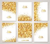 Set of White and Gold Banners poster