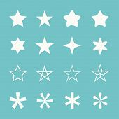 Постер, плакат: Stars vector set