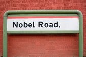 Nobel Road sign poster