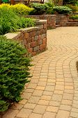 Retaining Wall And Patio poster