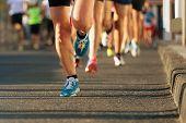 Marathon running race poster