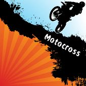 stock photo of moto-x  - Vector motocross background - JPG