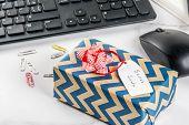 Office Christmas Concept, Secret Santa poster