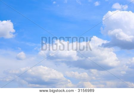 poster of Blue Sky And Fluffy Clouds