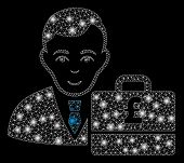 Glowing Mesh Pound Sterling Accounter With Glitter Effect. Abstract Illuminated Model Of Pound Sterl poster