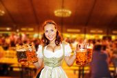 Bavarian Wheat Beer With Girls Cheer