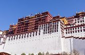 Close-up On Famous Potala Palace. World Heritage Site, Former Dalai Lama Residence In Lhasa - Tibet poster