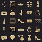 Stylist Icons Set. Simple Set Of 25 Stylist Icons For Web For Any Design poster