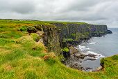 View Of The Irish Countryside And Rocky Cliffs Along The Coastal Walk Route From Doolin To The Cliff poster