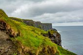 Rocky Cliffs Along The Coastal Walk Route From Doolin To The Cliffs Of Moher, Geosites And Geopark,  poster