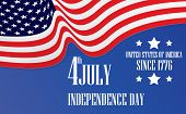 Independence Day American Flag 4th July. Fourth Of July  Amercan Flag Independence Day. American Fou poster
