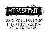 Street Font, Graffiti Alphabet. Vector Handwritten Typography. Urban Tag Font, Street Tags, Trendy S poster