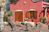 picture of hacienda  - mexican hacienda house in traditional architecture of latin america - JPG