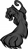 stock photo of panther  - Graphic Mascot Vector Image of a Prowling Black Panther Body - JPG